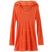Prana Luiza Tunic Bathing Suit Cover Up, Electric Orange, medium