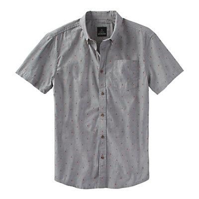 Prana Broderick Standard Mens Shirt, Gravel, viewer