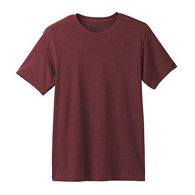 Prana Crew Mens T-Shirt, Raisin, viewer