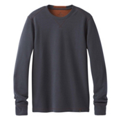 Prana Wes Long Sleeve Crew Mens Sweatshirt, Coal, medium