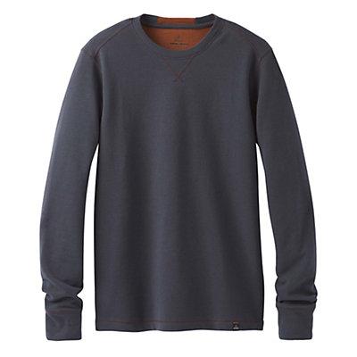 Prana Wes Long Sleeve Crew Mens Sweatshirt, Coal, viewer
