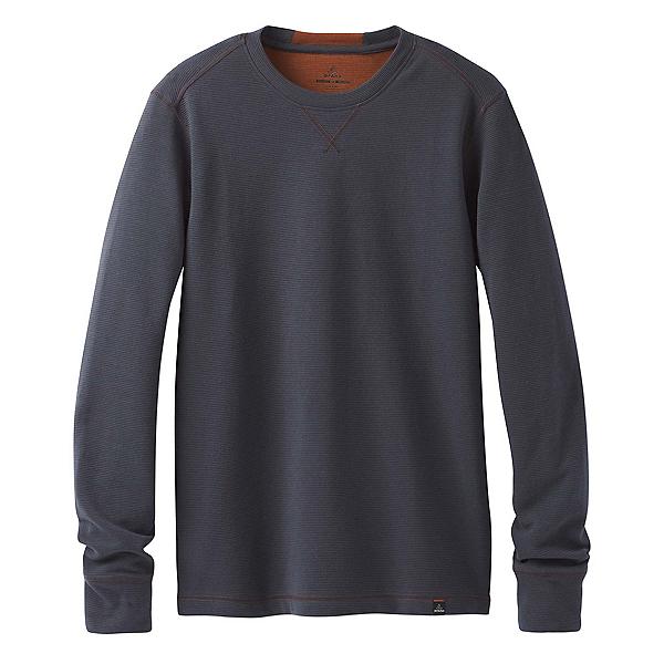 Prana Wes Long Sleeve Crew Mens Sweatshirt, Coal, 600