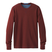 Prana Wes Long Sleeve Crew Mens Sweatshirt, Raisin, medium