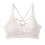 Prana Dreaming Womens Sports Bra, White, medium
