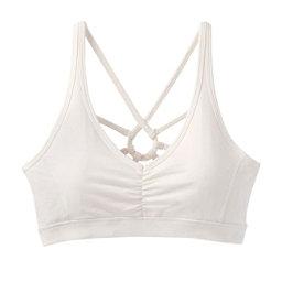 Prana Dreaming Womens Sports Bra, White, 256