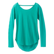 Prana Salsola Top Womens Shirt, Emerald Waters, medium