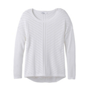 Prana Parker Womens Sweater, White, medium
