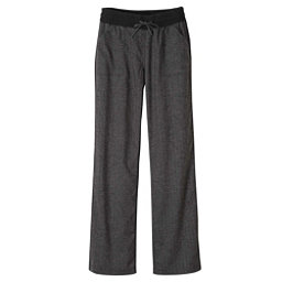 Prana Mantra Womens Pants, Black Herringbone, 256