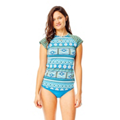 Carve Designs Belles Beach Womens Rash Guard, Reed Parisio-Canyon Stripe, medium