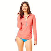 Carve Designs Cruz Womens Rash Guard, Sunkiss, medium