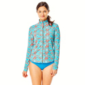 Carve Designs Lake Sunshirt Womens Rash Guard, St. Croix-Sunkiss, medium