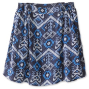 KAVU South Beach Skirt, Blue Ikat, medium