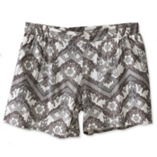 KAVU Sally Womens Shorts, Grey Ikat, medium