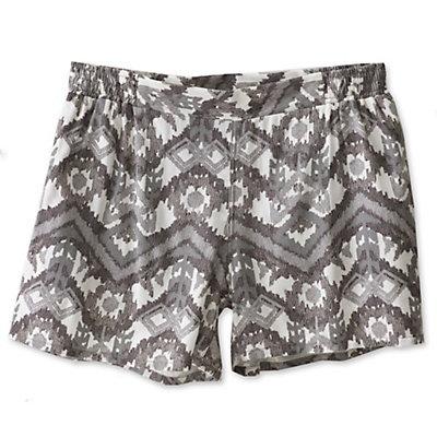 KAVU Sally Womens Shorts, Grey Ikat, viewer