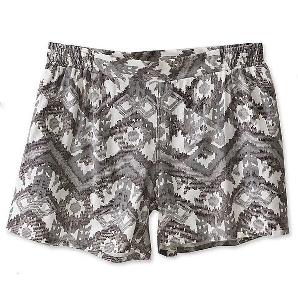 KAVU Sally Womens Shorts, Grey Ikat, 600
