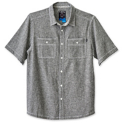 KAVU Jacksonville Mens Shirt, Black Smoke, medium