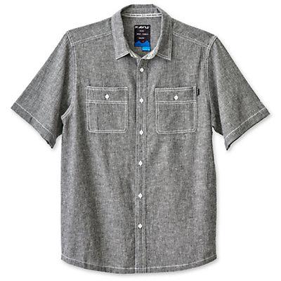KAVU Jacksonville Mens Shirt, Black Smoke, viewer