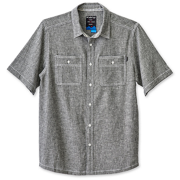 KAVU Jacksonville Mens Shirt, Black Smoke, 600