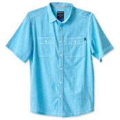 KAVU Jacksonville Mens Shirt, Sea Breeze, medium
