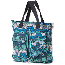 KAVU Tricked Out Tote, Ocean Waves, 256
