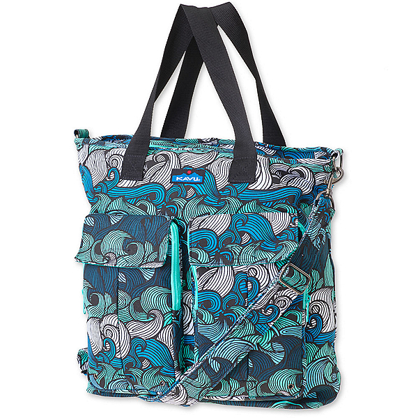 KAVU Tricked Out Tote, Ocean Waves, 600
