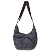 KAVU Singapore Satchel, Black Topo, medium