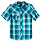 KAVU Pemberton Mens Shirt, Deep Teal, medium