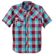 KAVU Pemberton Mens Shirt, Burgundy, medium