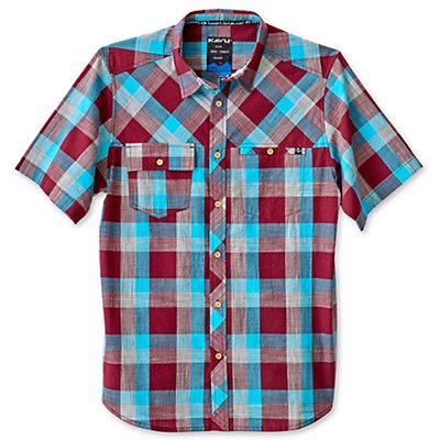 KAVU Pemberton Mens Shirt, Deep Teal, viewer