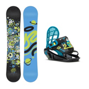 K2 Mini Turbo Kids Snowboard and Binding Package, 110cm, medium