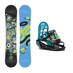 K2 Mini Turbo Kids Snowboard and Binding Package, 110cm, 256