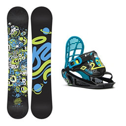 K2 Mini Turbo Kids Snowboard and Binding Package, 120cm, 256