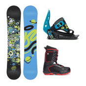 K2 Mini Turbo Militia 4 Kids Complete Snowboard Package, , medium