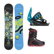 K2 Mini Turbo Militia 4 Kids Complete Snowboard Package, 120cm, medium