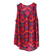 KAVU Beryl Womens Shirt, Jewel Ikat, medium