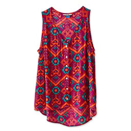 KAVU Beryl Womens Shirt, Jewel Ikat, 256
