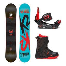 K2 Vandal Kids Complete Snowboard Package, , 256