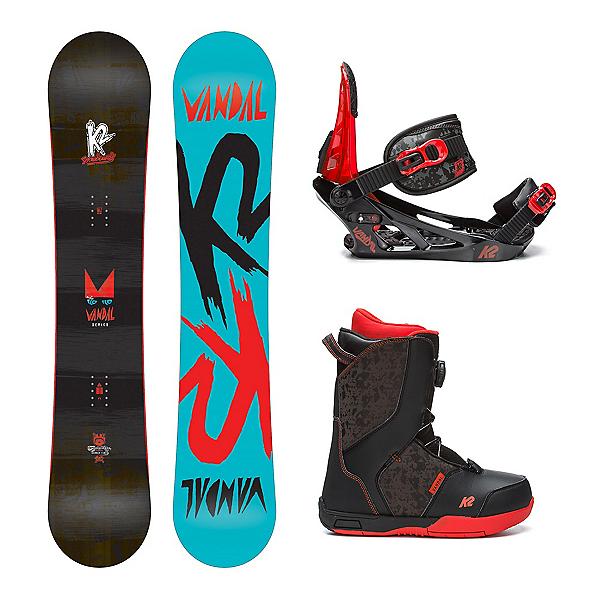 K2 Vandal Kids Complete Snowboard Package, , 600