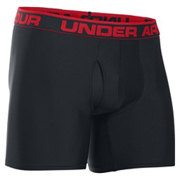 Under Armour The Original 6 Inch Boxers, Black-Red, 256