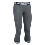 Under Armour Favorite Capri Womens Pants, Carbon Heather-Black-Metallic, medium