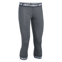 Under Armour Favorite Capri Womens Pants, Carbon Heather-Black-Metallic, 256