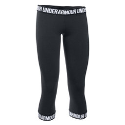 Under Armour Favorite Capri Womens Pants, Black-Black-Metallic Silver, 256