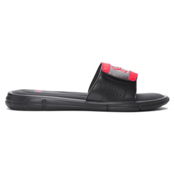 Under Armour Ignite V Slide Mens Flip Flops, Black-Red, medium