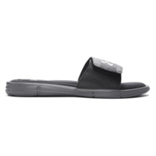 Under Armour Ignite V Slide Mens Flip Flops, Graphite-Black-Metallic Silver, medium