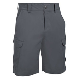 Under Armour Fish Hunter Cargo Mens Shorts, Rhino Gray-Black, 256