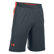 Under Armour Raid Mens Shorts, Stealth Gray-Phoenix Fire, medium