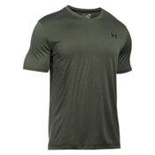 Under Armour Tech V-Neck Mens T-Shirt, Downtown Green-Black, medium