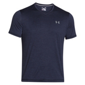 Under Armour Tech V-Neck Mens T-Shirt, Midnight Navy-Steel, medium