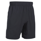Under Armour Coastal Mens Shorts, Black-Rhino Gray, medium