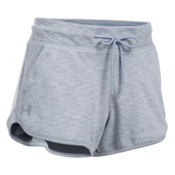 Under Armour Ocean Shoreline Womens Shorts, True Gray Heather-Black, medium
